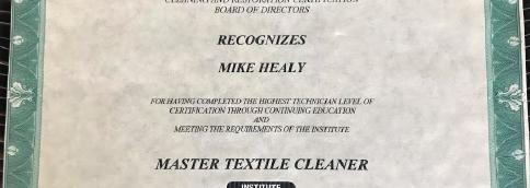 Certified Master Cleaner